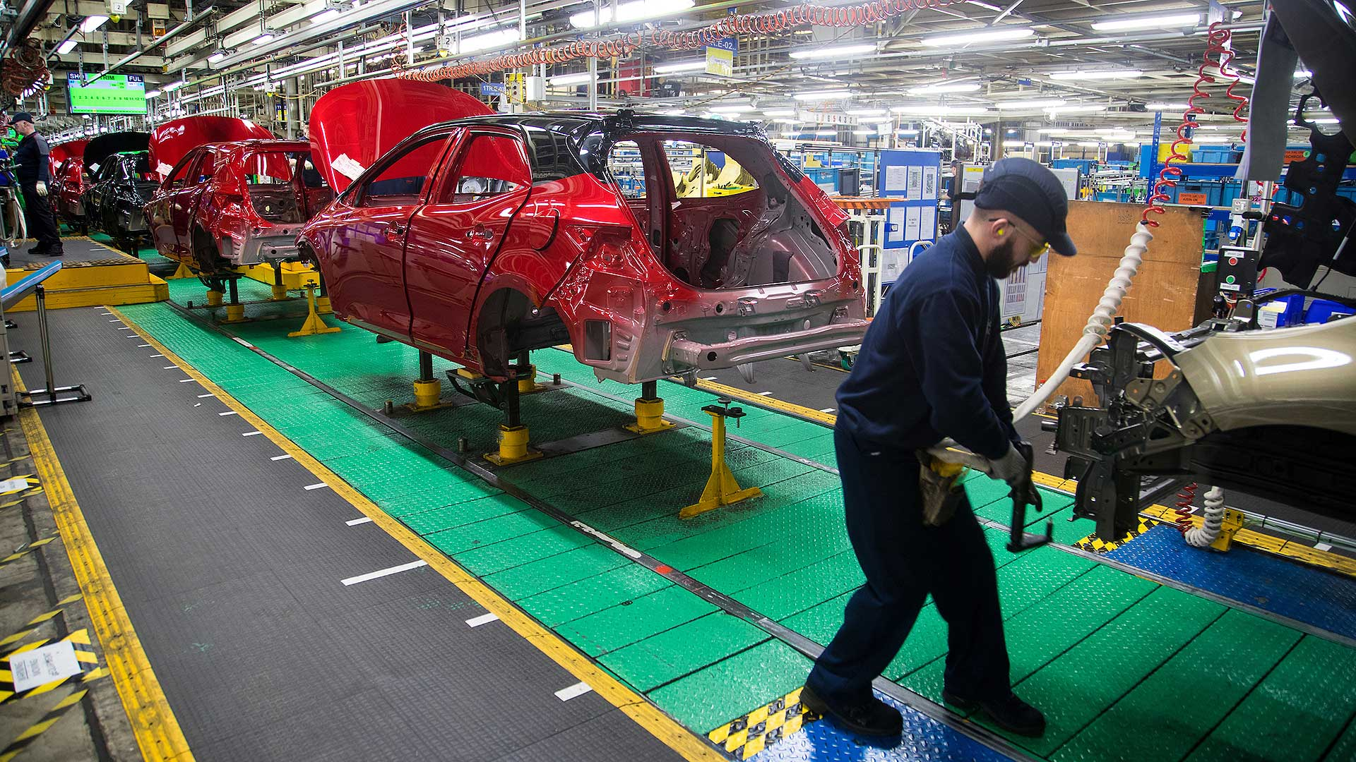 Toyota Corolla production in Burnaston