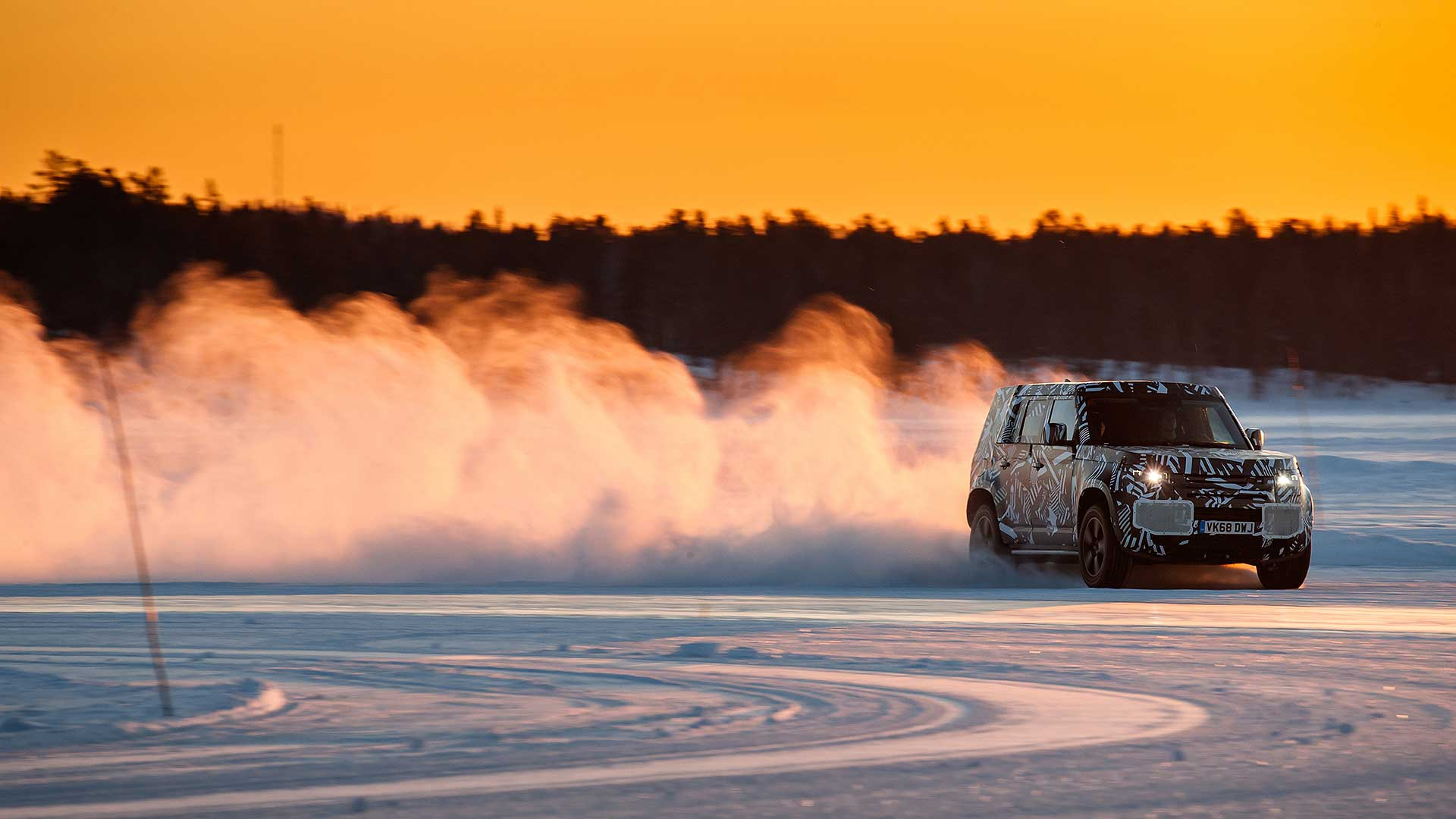 Land Rover Defender 2020 testing on ice