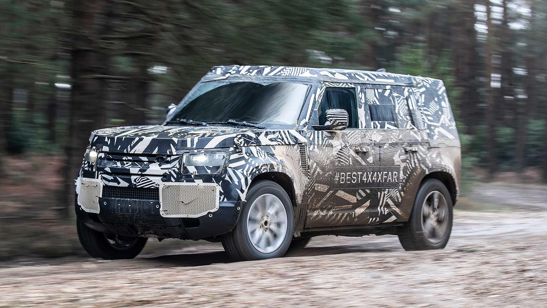 Land Rover Defender 2020 testing off-road