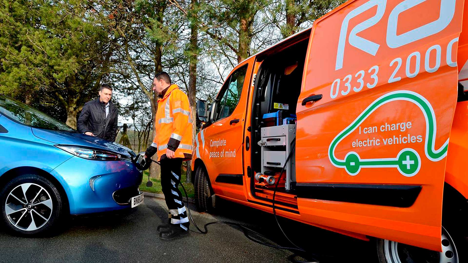RAC patrol van with EV Boost