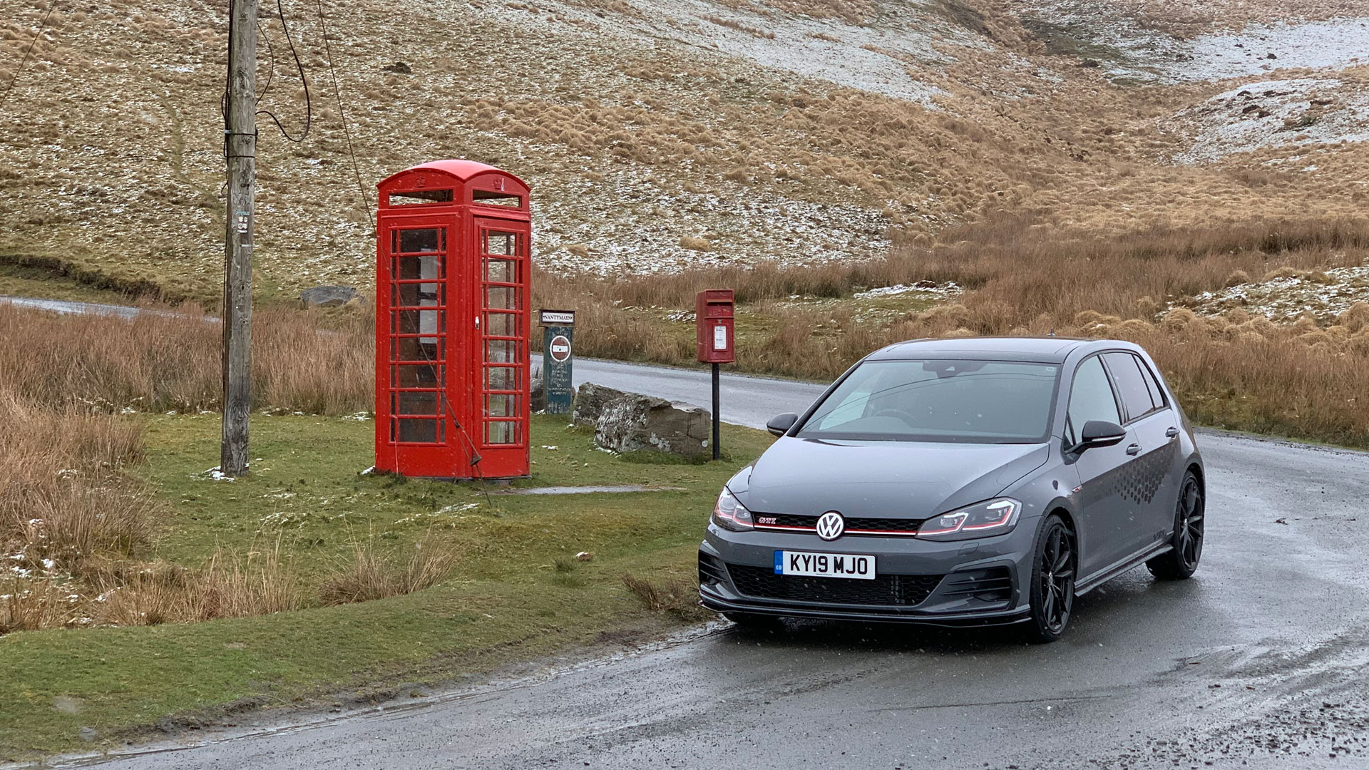 Volkswagen Golf GTI TCR on road to Tregaron