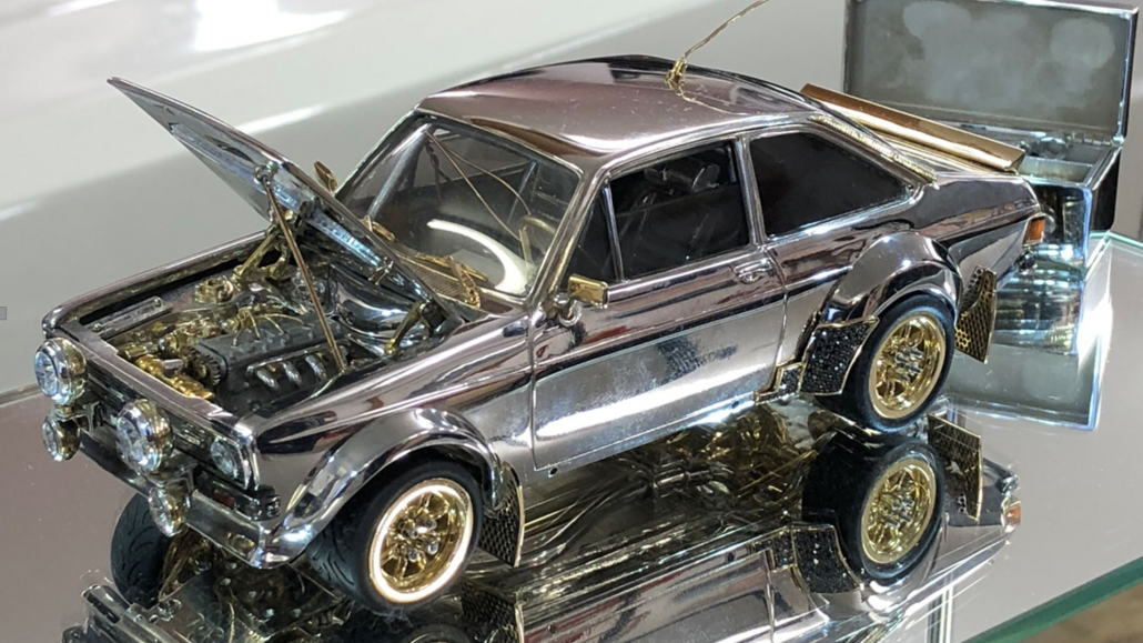 for sale ford escort made from 16378k of gold silver and