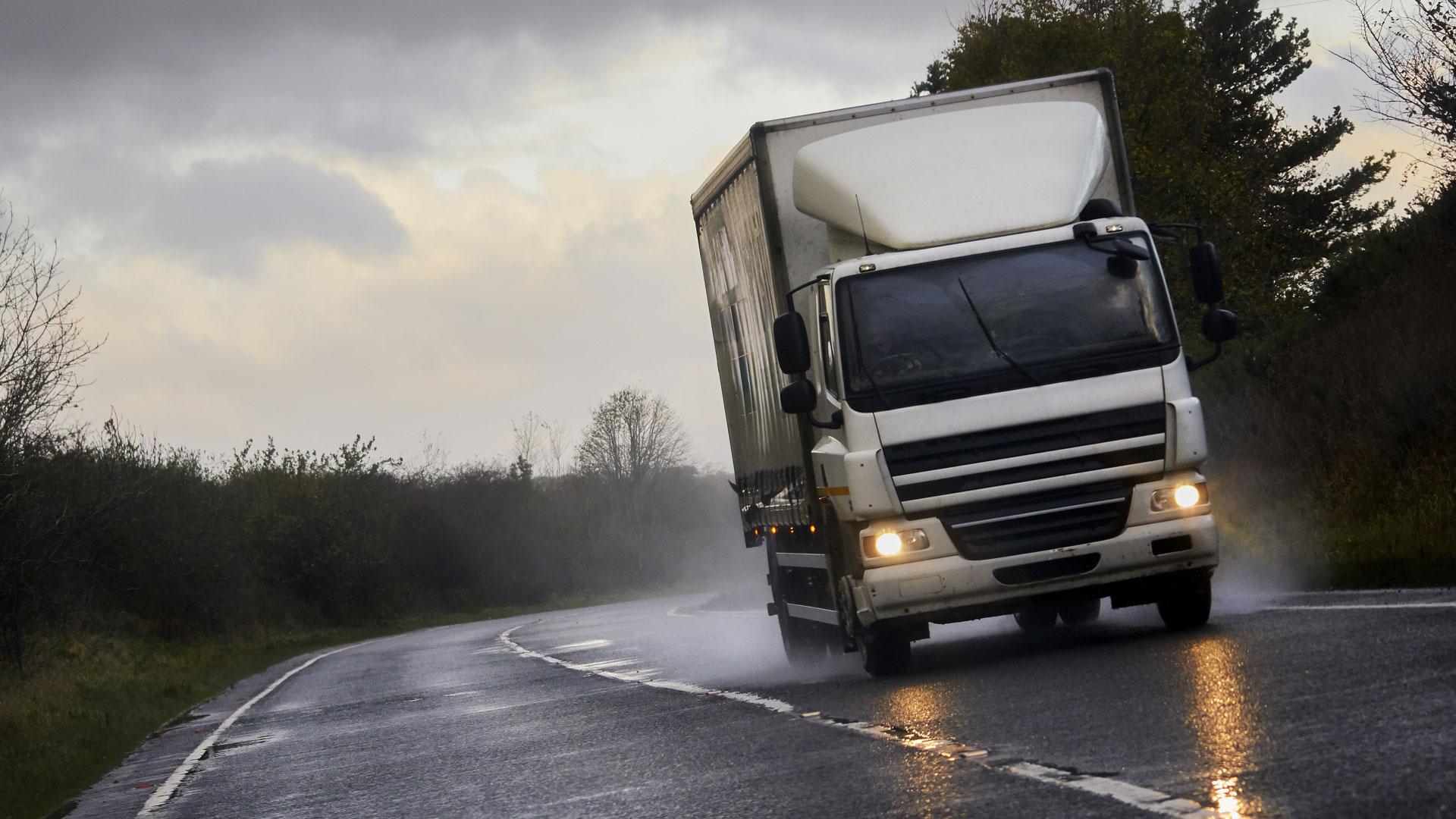 lorry on uk roads