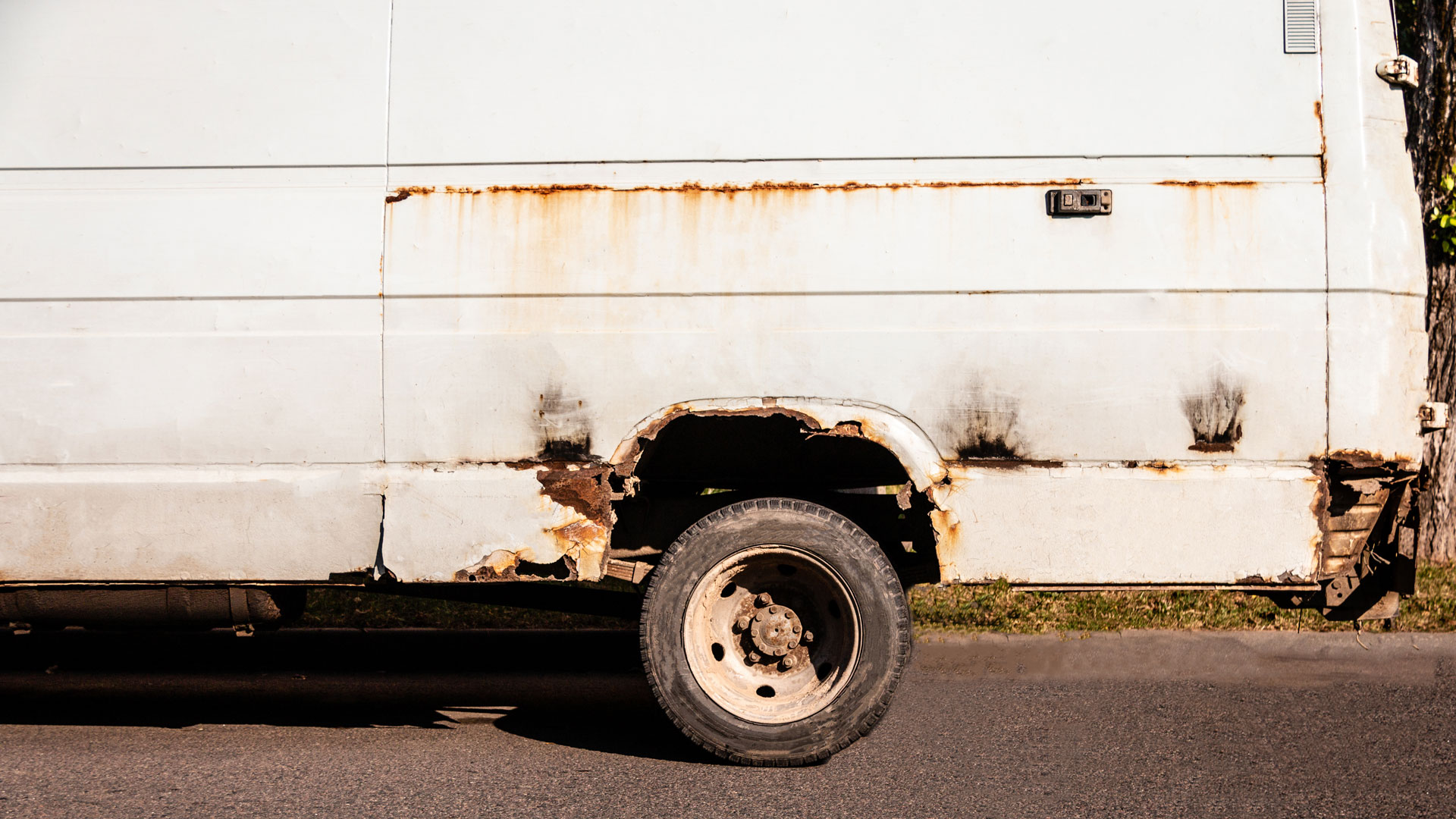 rusty van scrappage