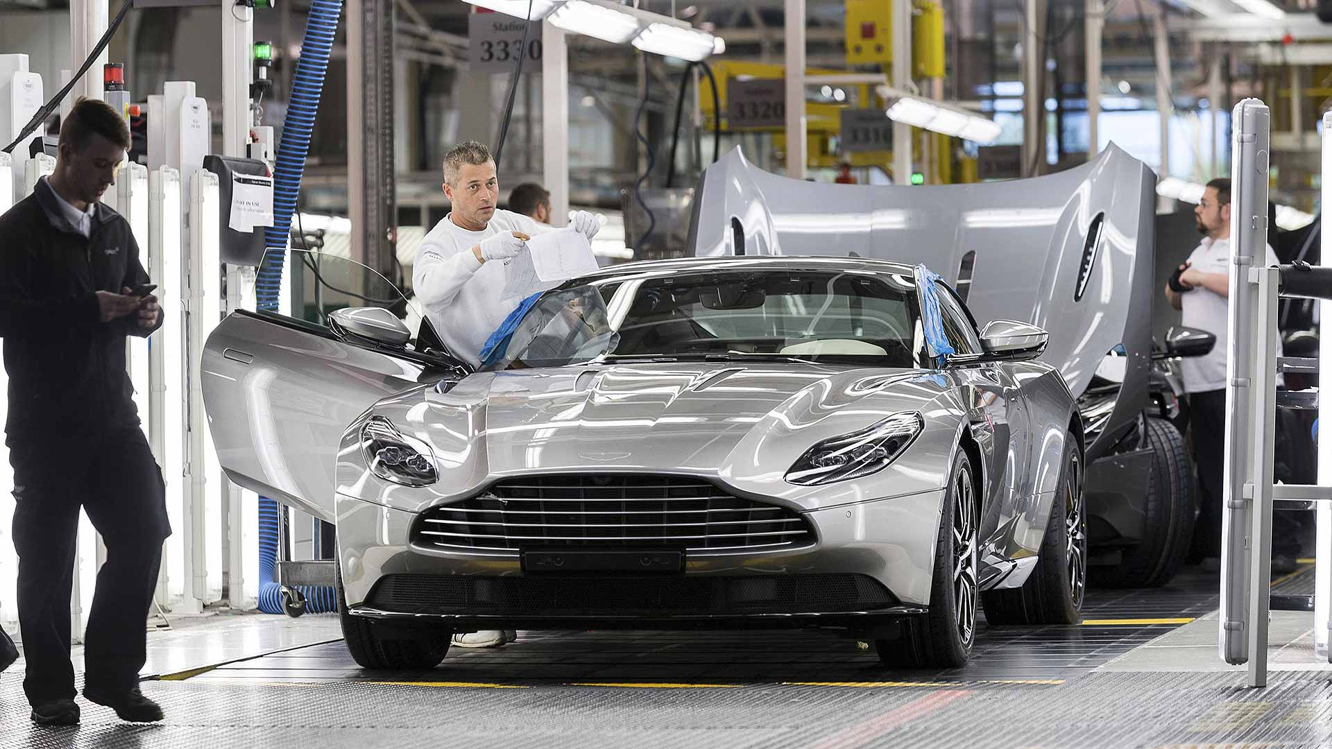 Aston Martin supercar production in Gaydon