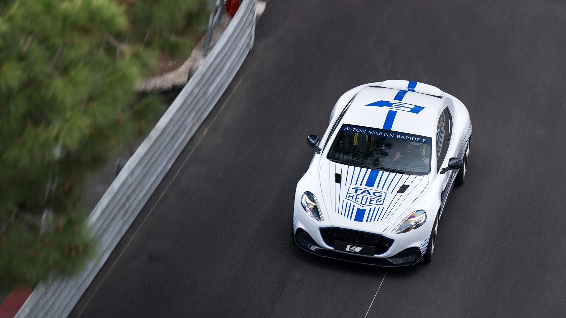 Aston Martin Rapide E Monaco Formula E Debut