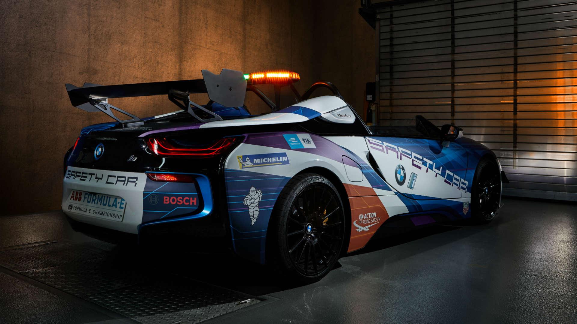 BMW i8 Roadster safety car Monaco