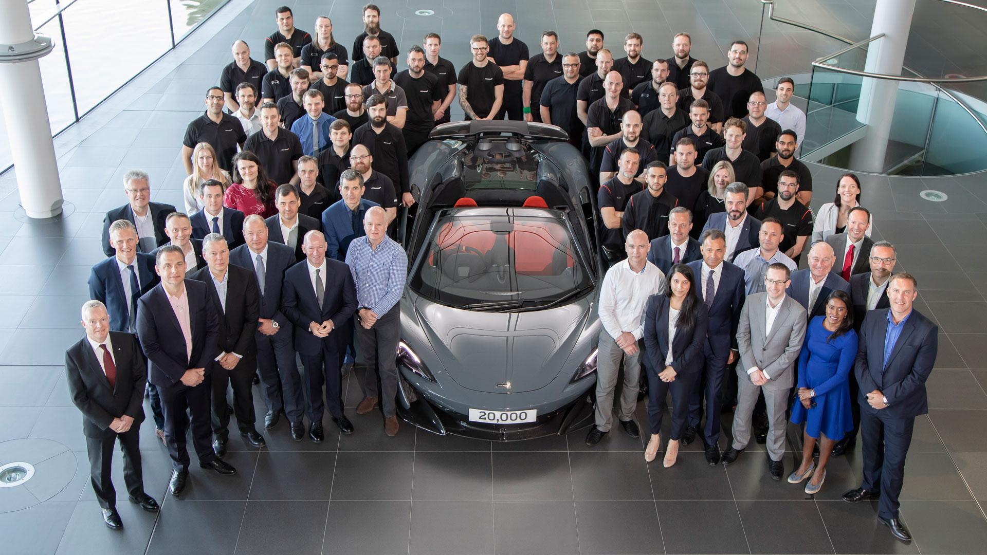 McLaren Automotive production milestone
