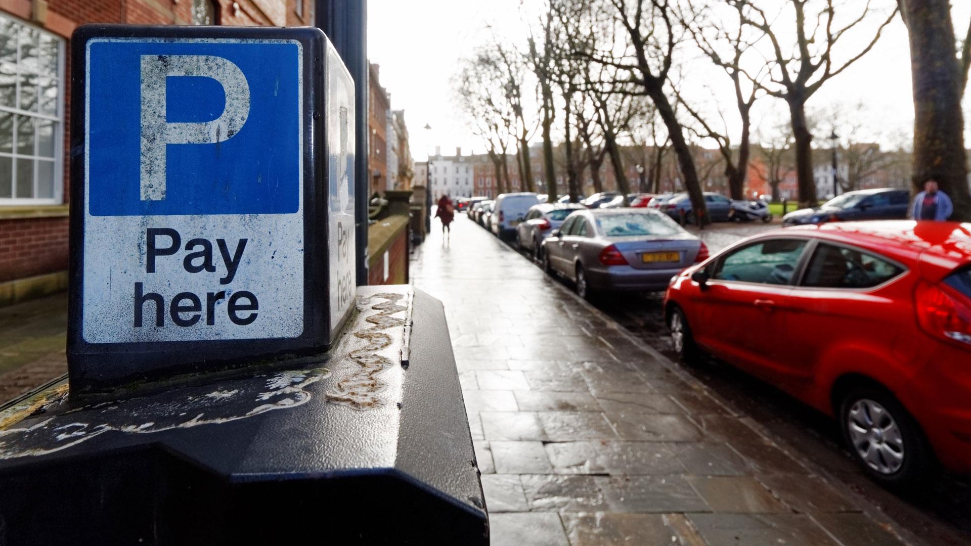 Parking ticket machine in Bristol