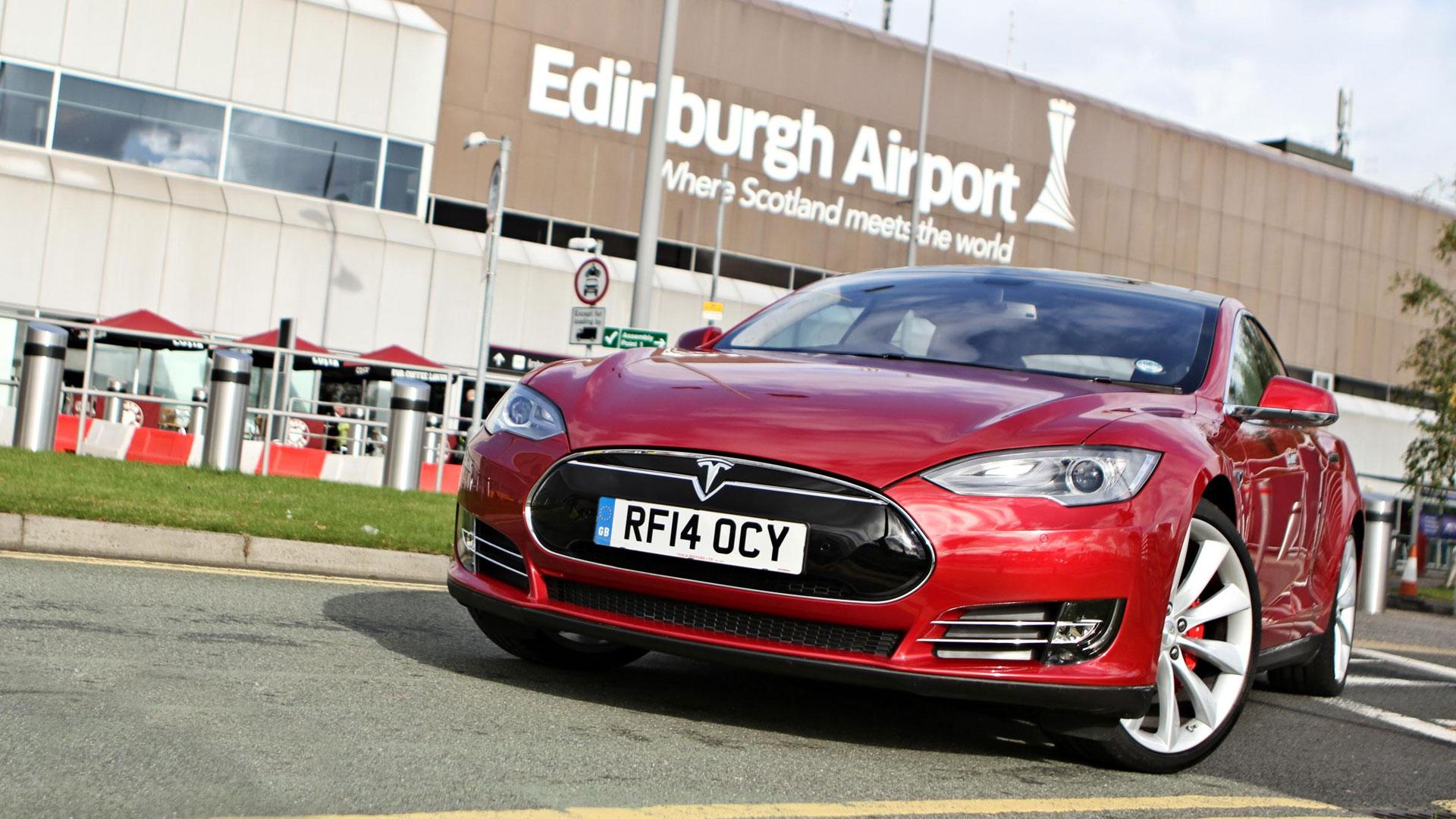 Tesla at Edinburgh Airport