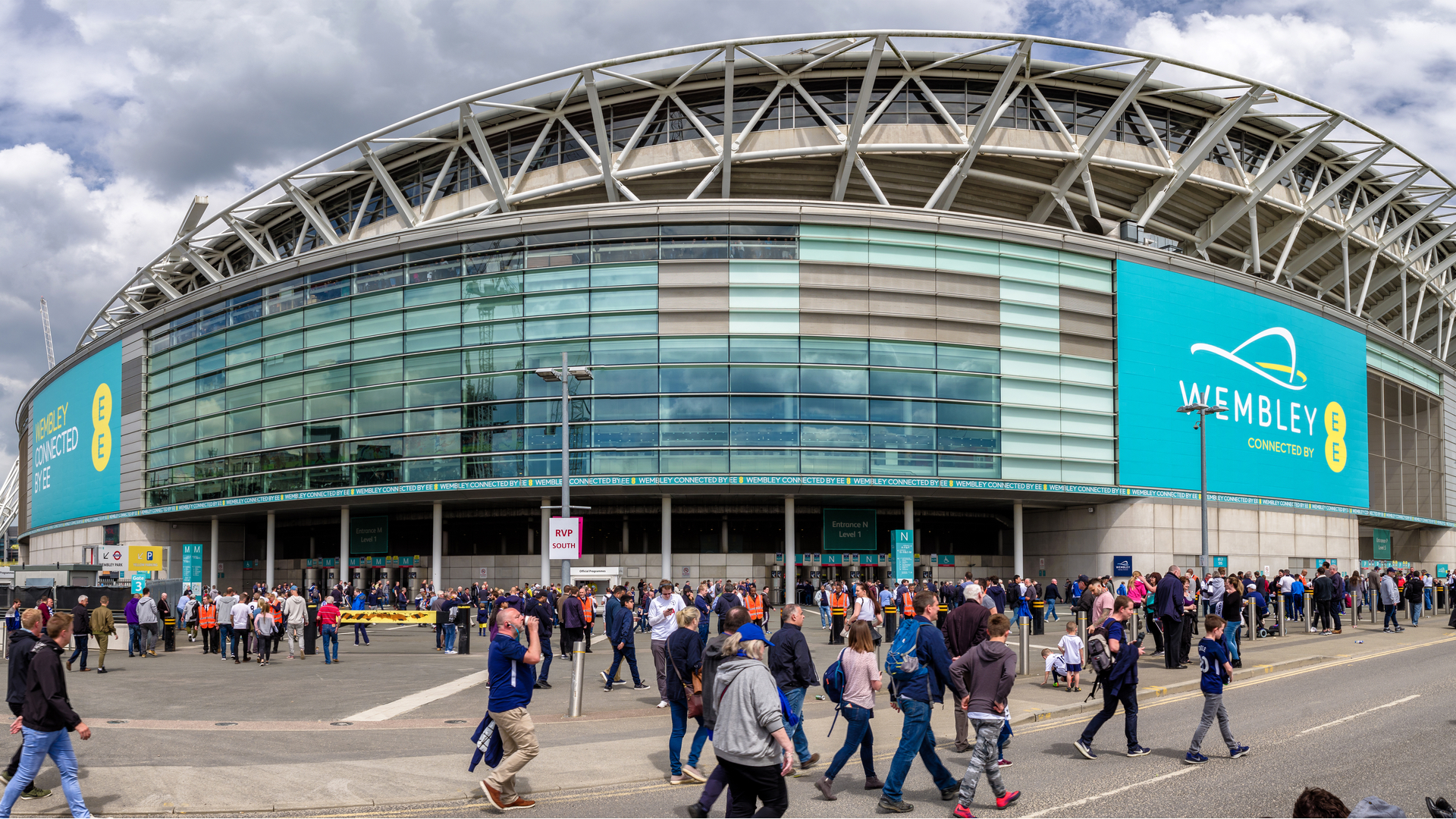 fans at Wembley Stadium