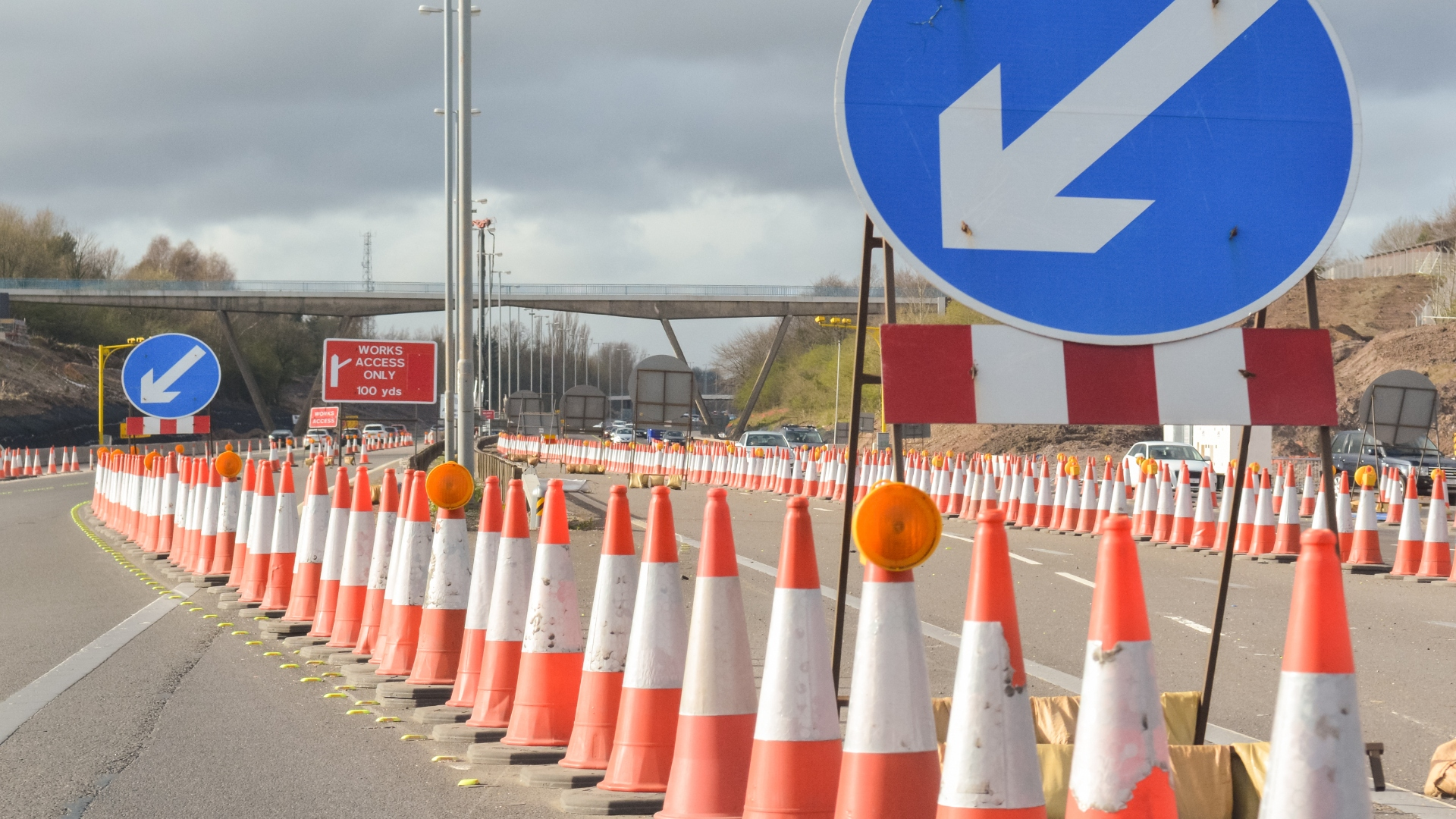 Highways England crash barriers