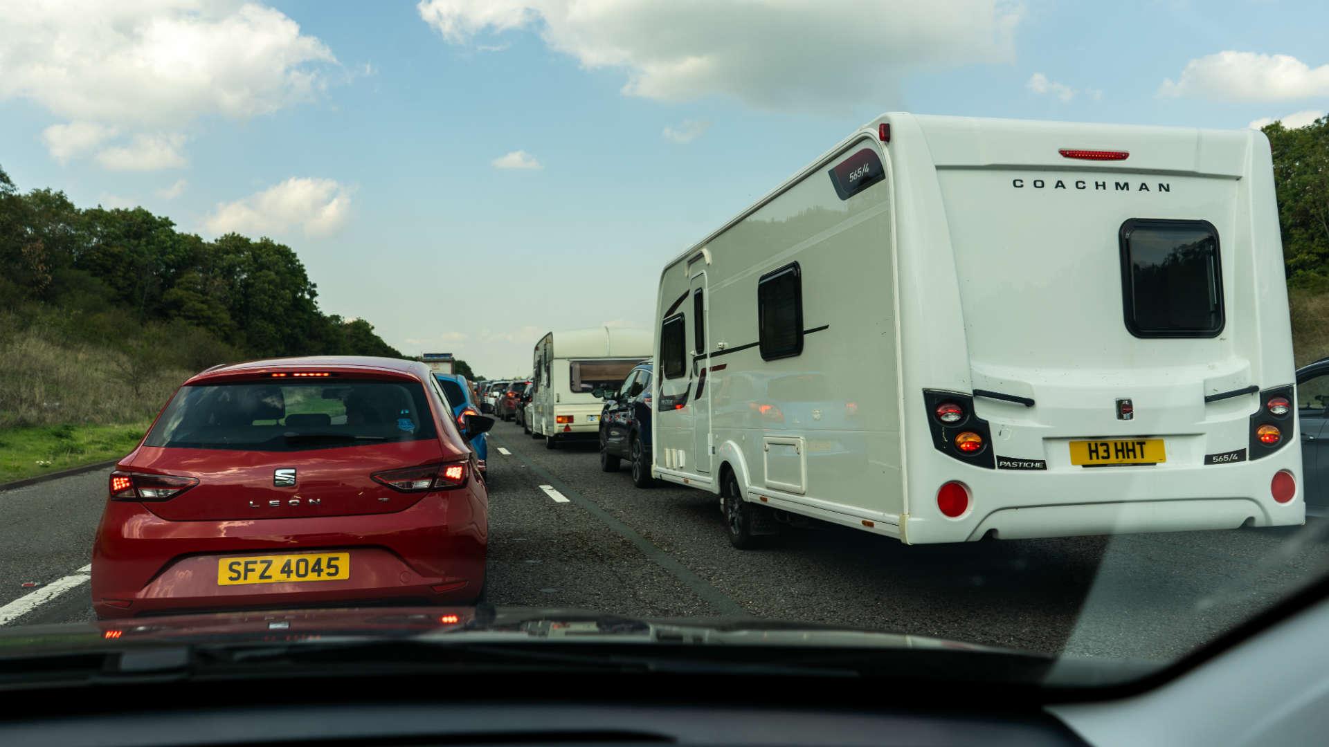 traffic delays on the M5 near Bristol
