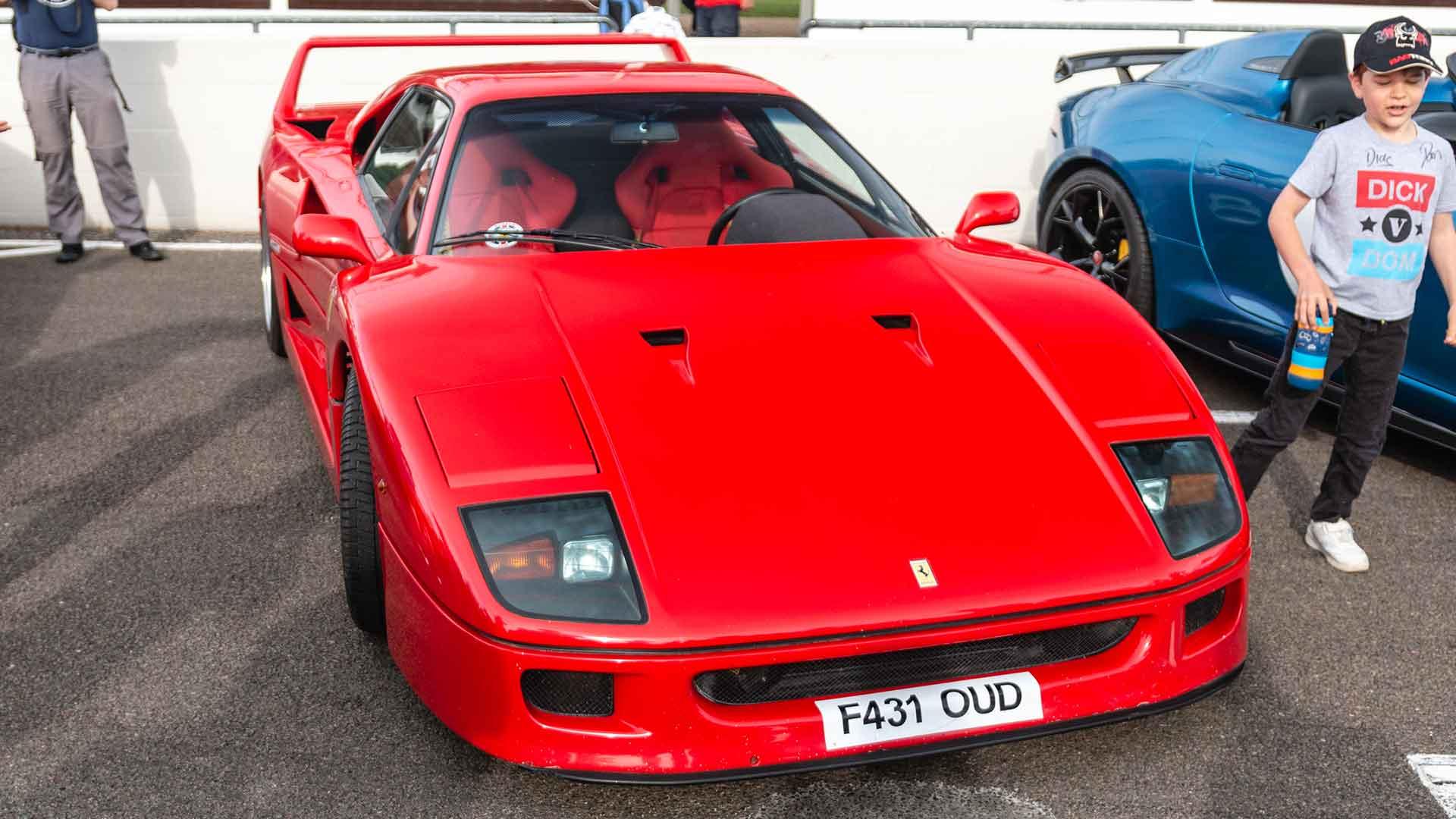 Ferrari F40 at Goodwood Supercar Sunday