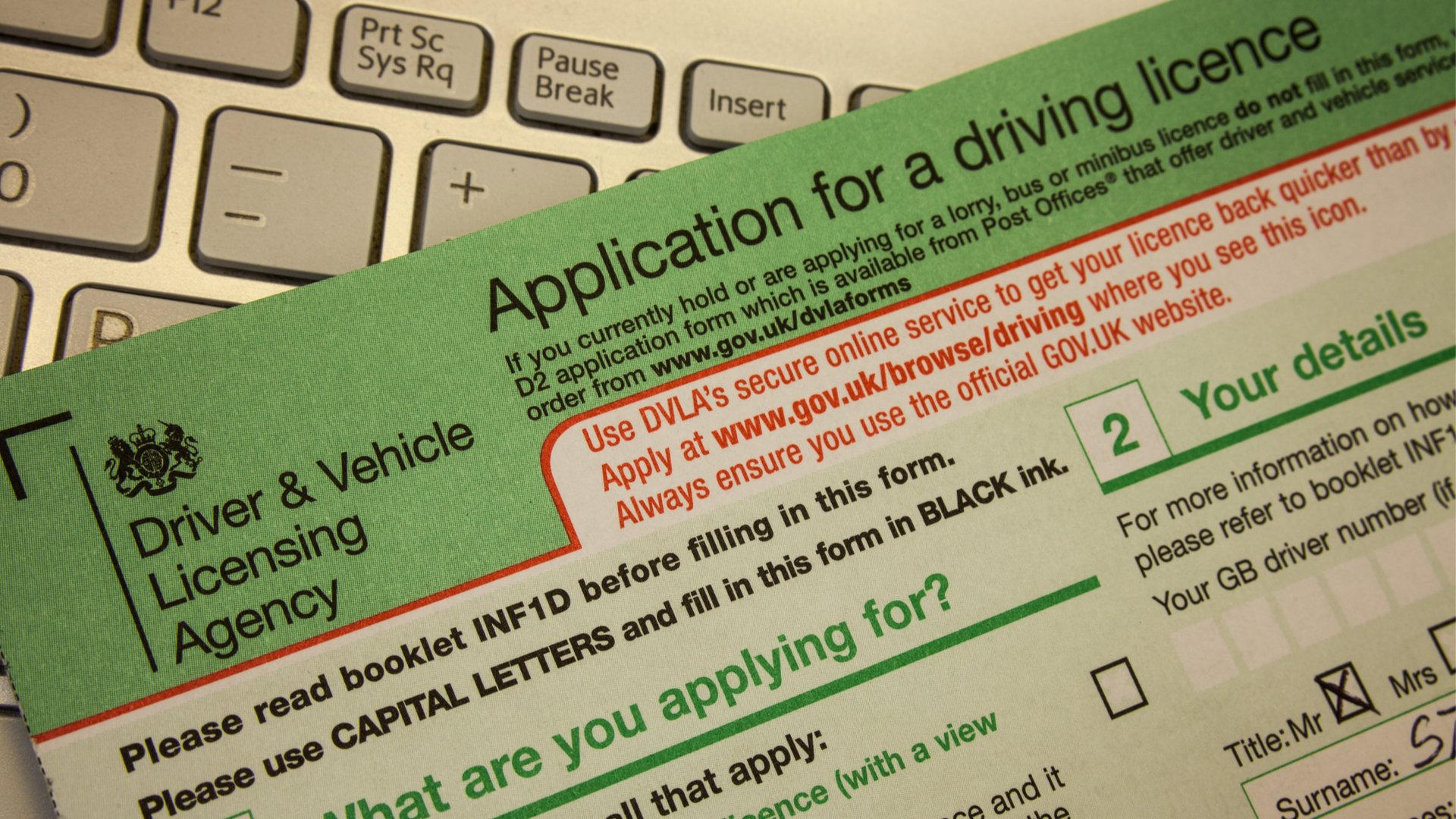 Photocard Driving Licence Application | Post Office®