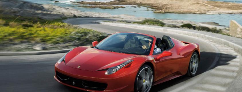 Hiring a supercar Ferrari 458 Spider