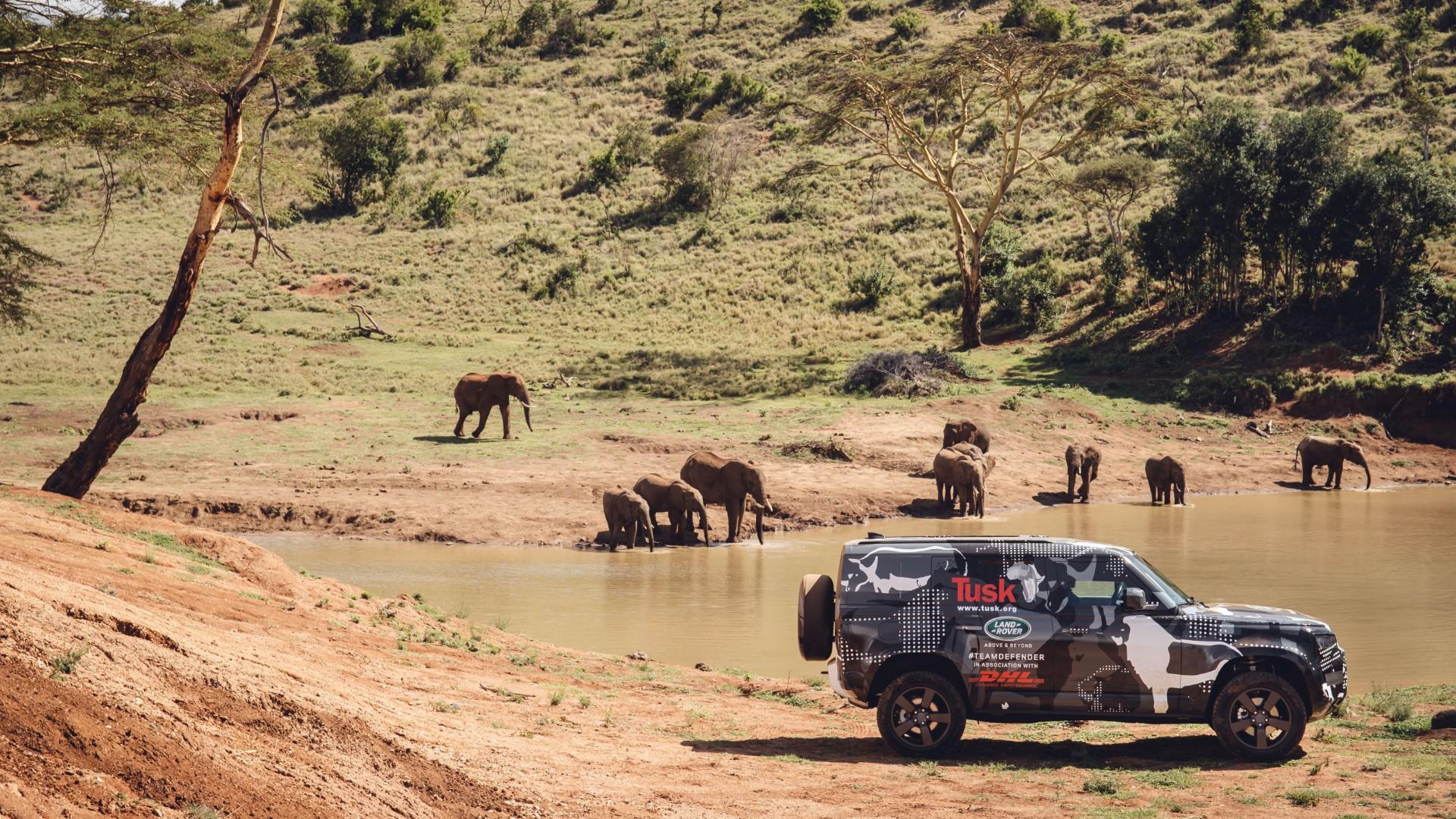 Land Rover Defender testing in Africa
