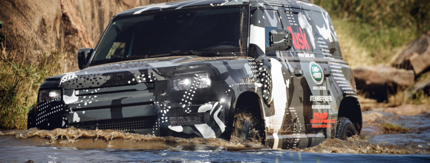 Land Rover Defender testing in Africa