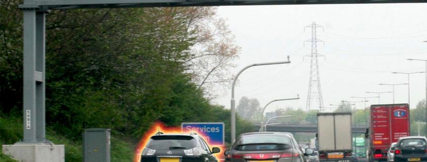 Red X closed lanes smart motorway fines