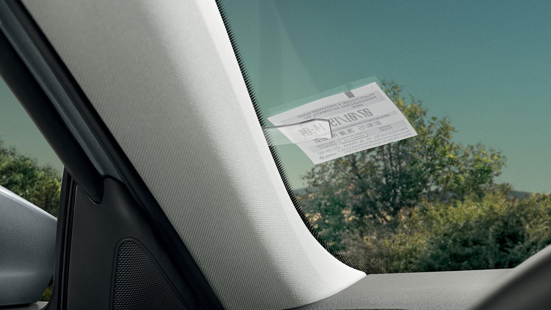 Skoda parking ticket holder