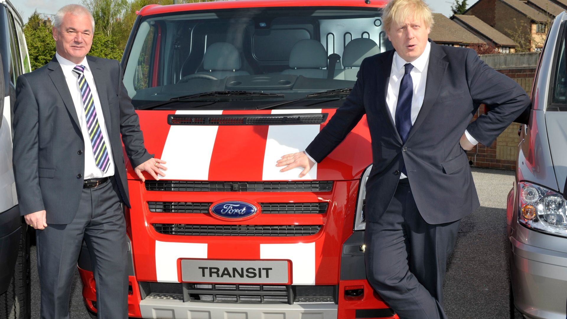 Boris Johnson and Ford Transit