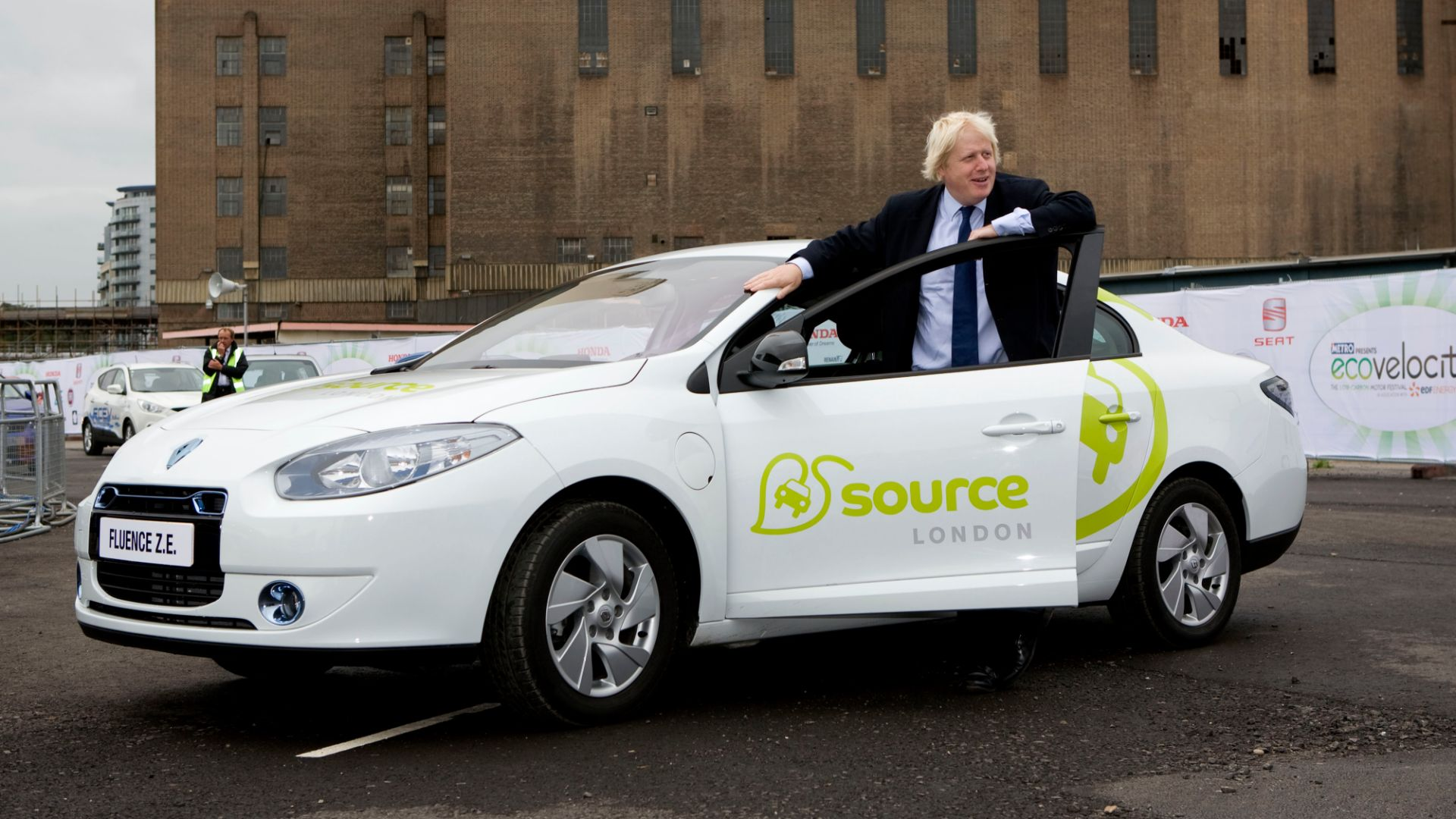 Boris Johnson and Renault Fluence ZE