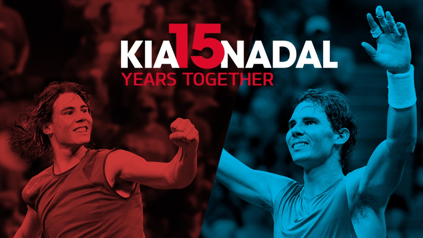 Kia and Rafa Nadal 15 years
