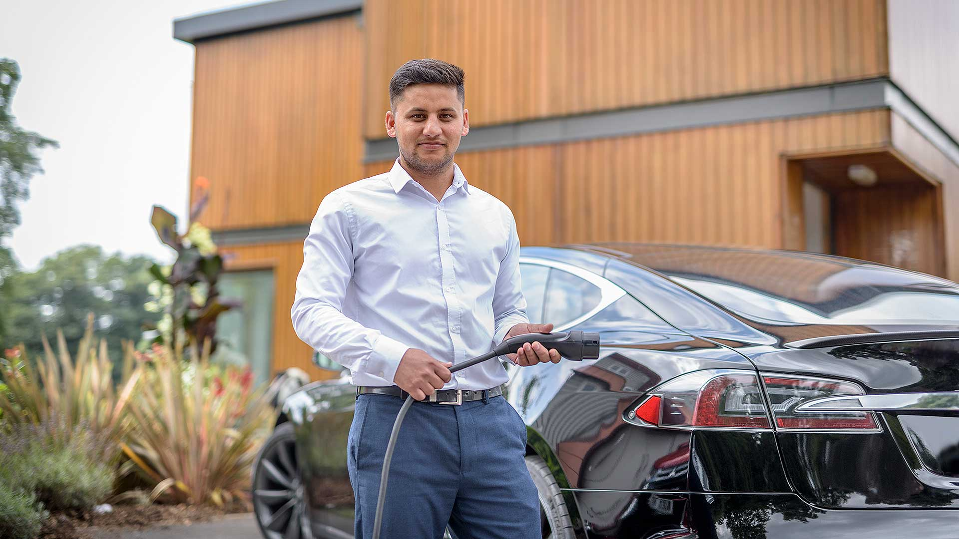Electric Tesla driver