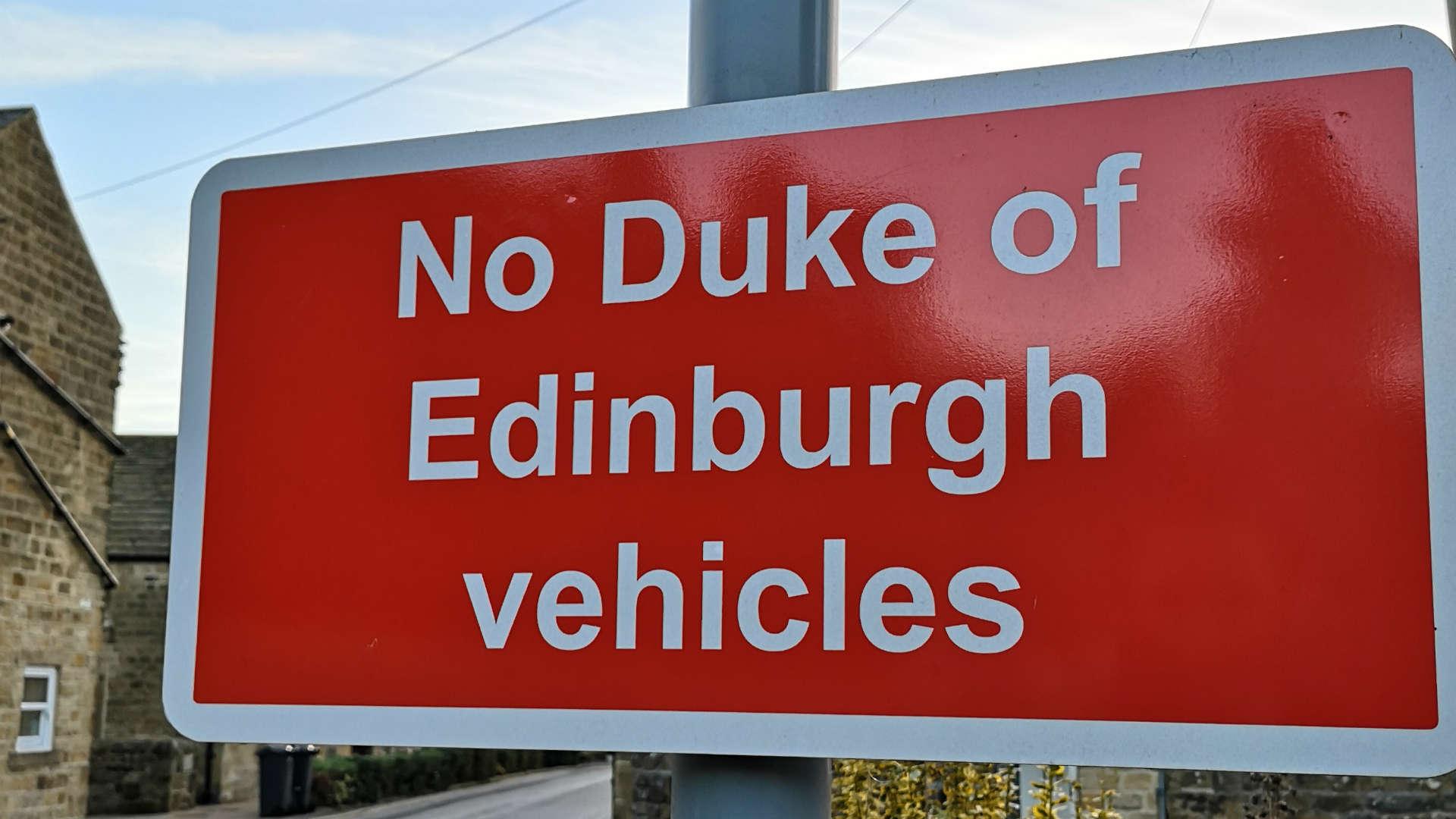 No Duke of Edinburgh vehicles