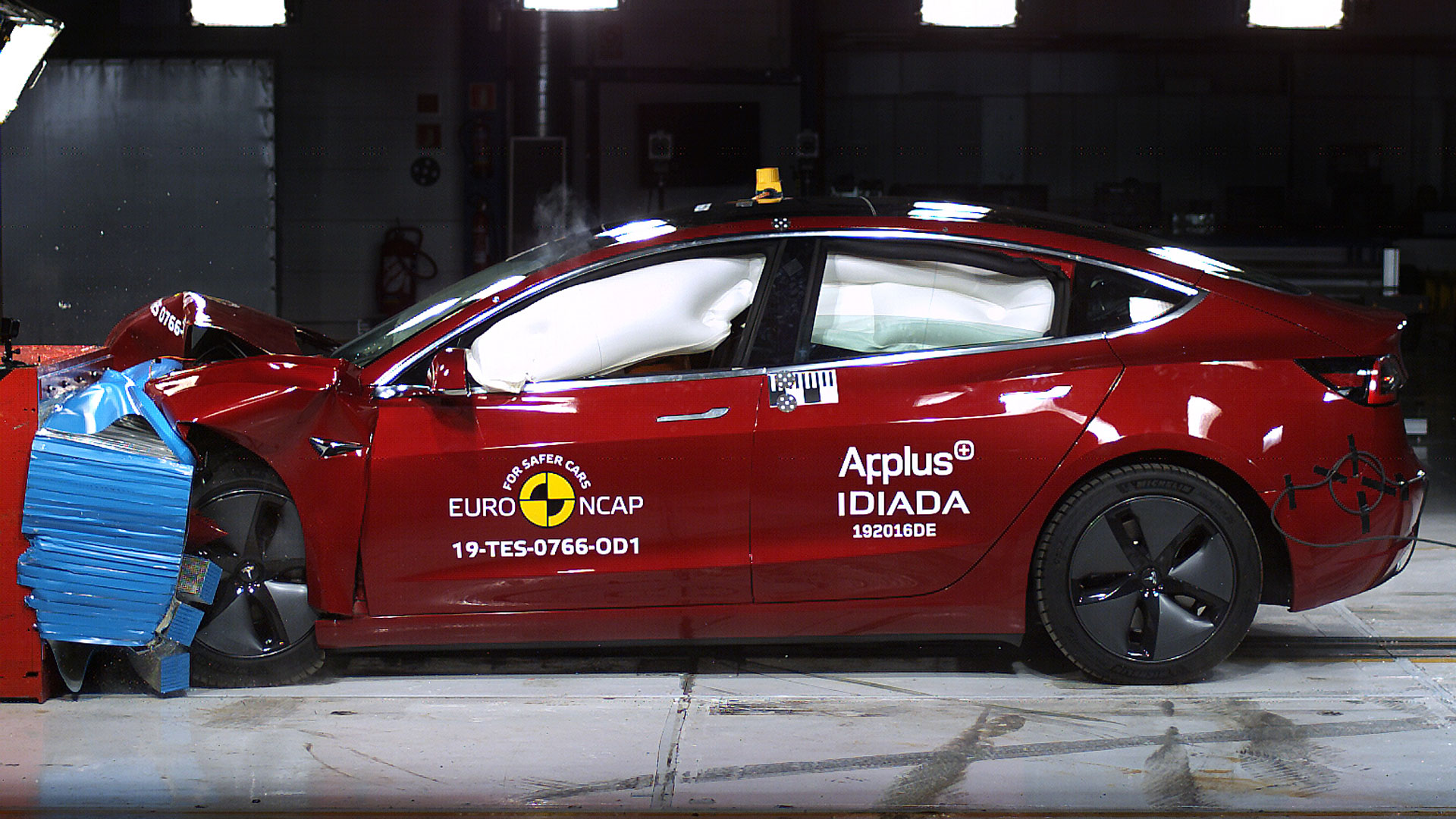 Tesla Model 3 Euro NCAP test