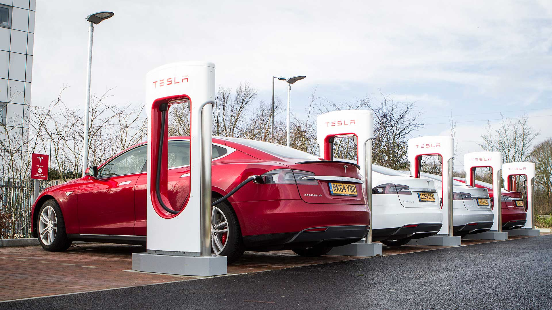 Tesla Superchargers in Britain