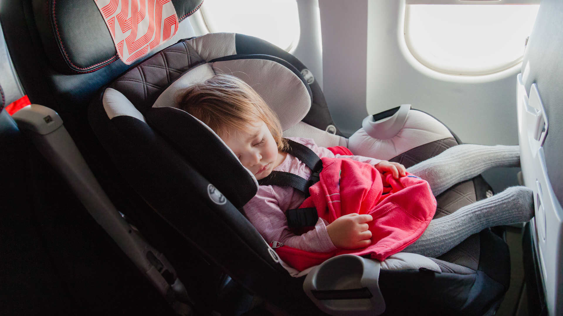 Using a child car seat during the flight