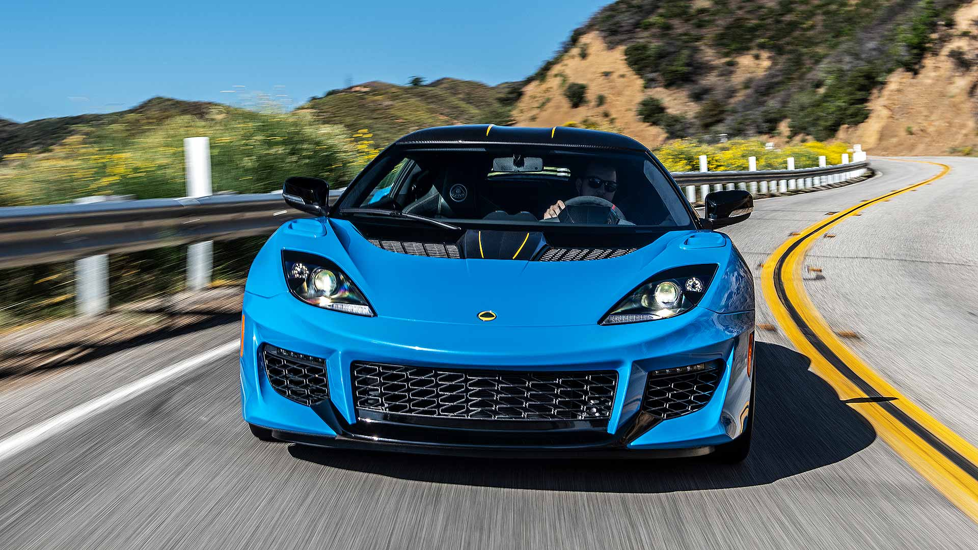 Lotus Evora GT in Cyan Blue