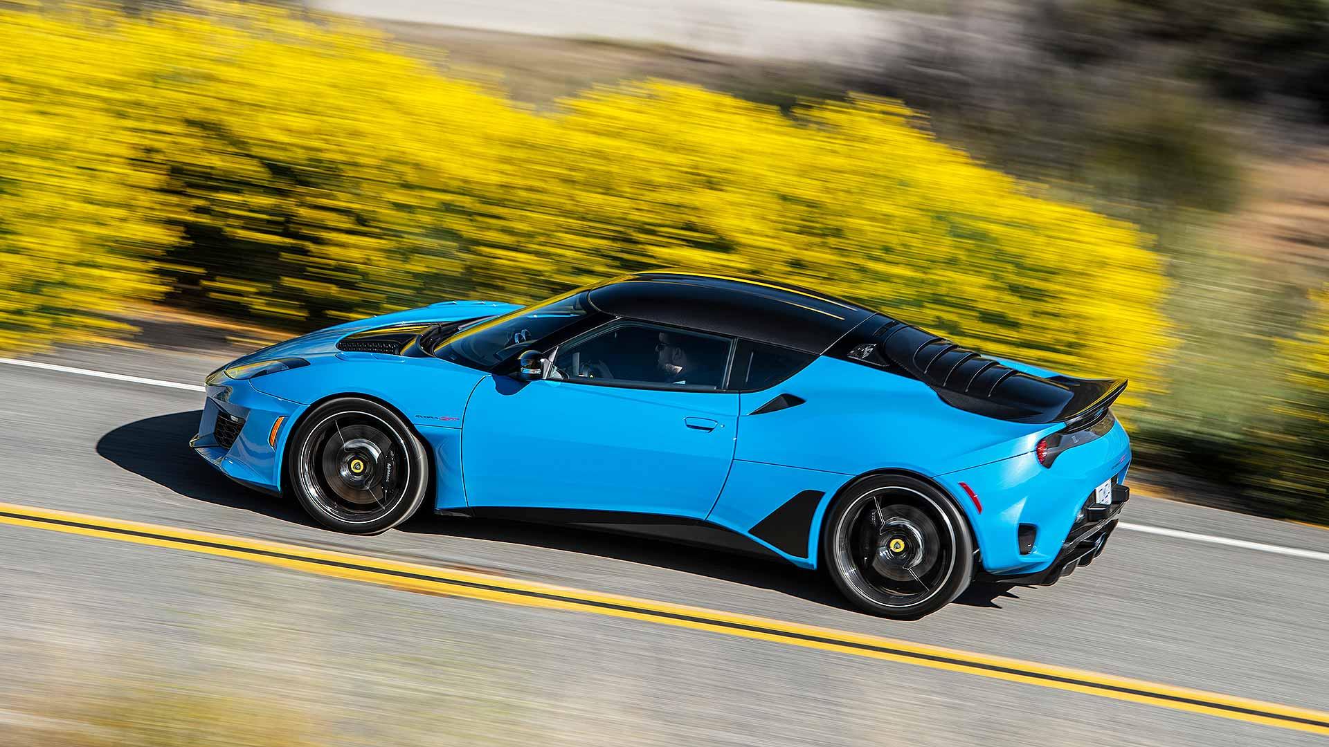 Lotus Evora GT in Cyan Blue