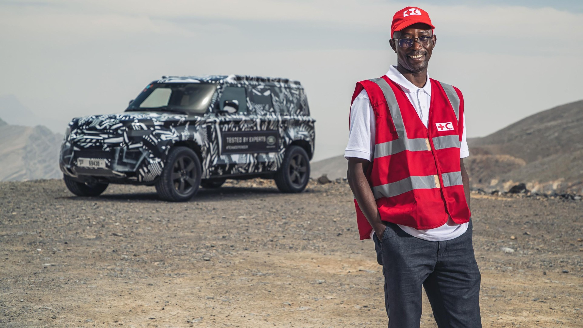 Red Cross testing the Land Rover Defender