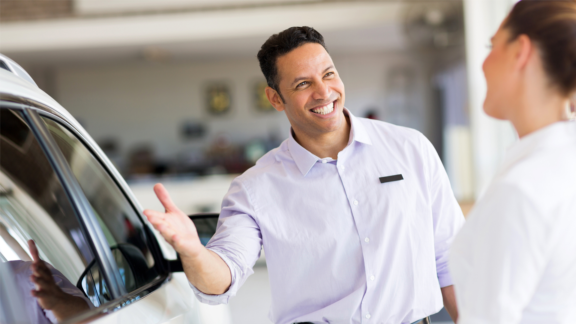 Happy car dealer