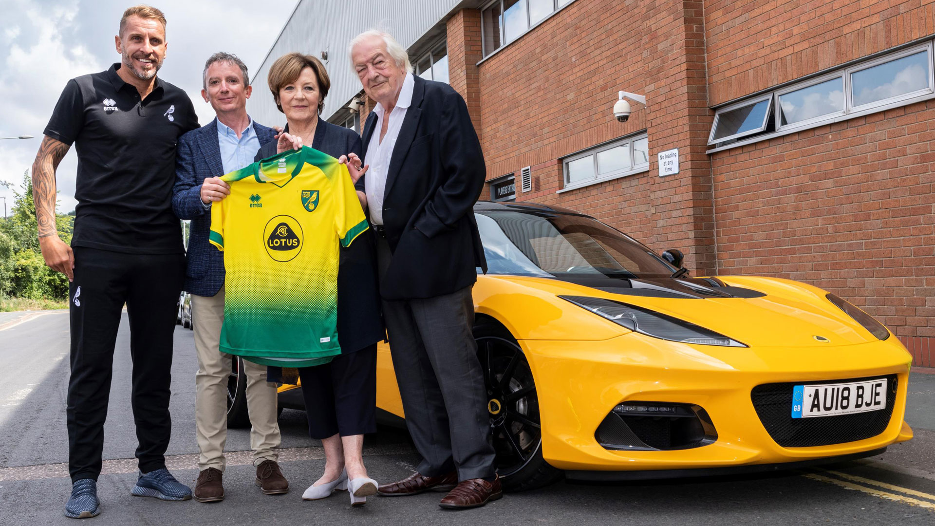 Norwich City sign Lotus Cars on Deadline Day