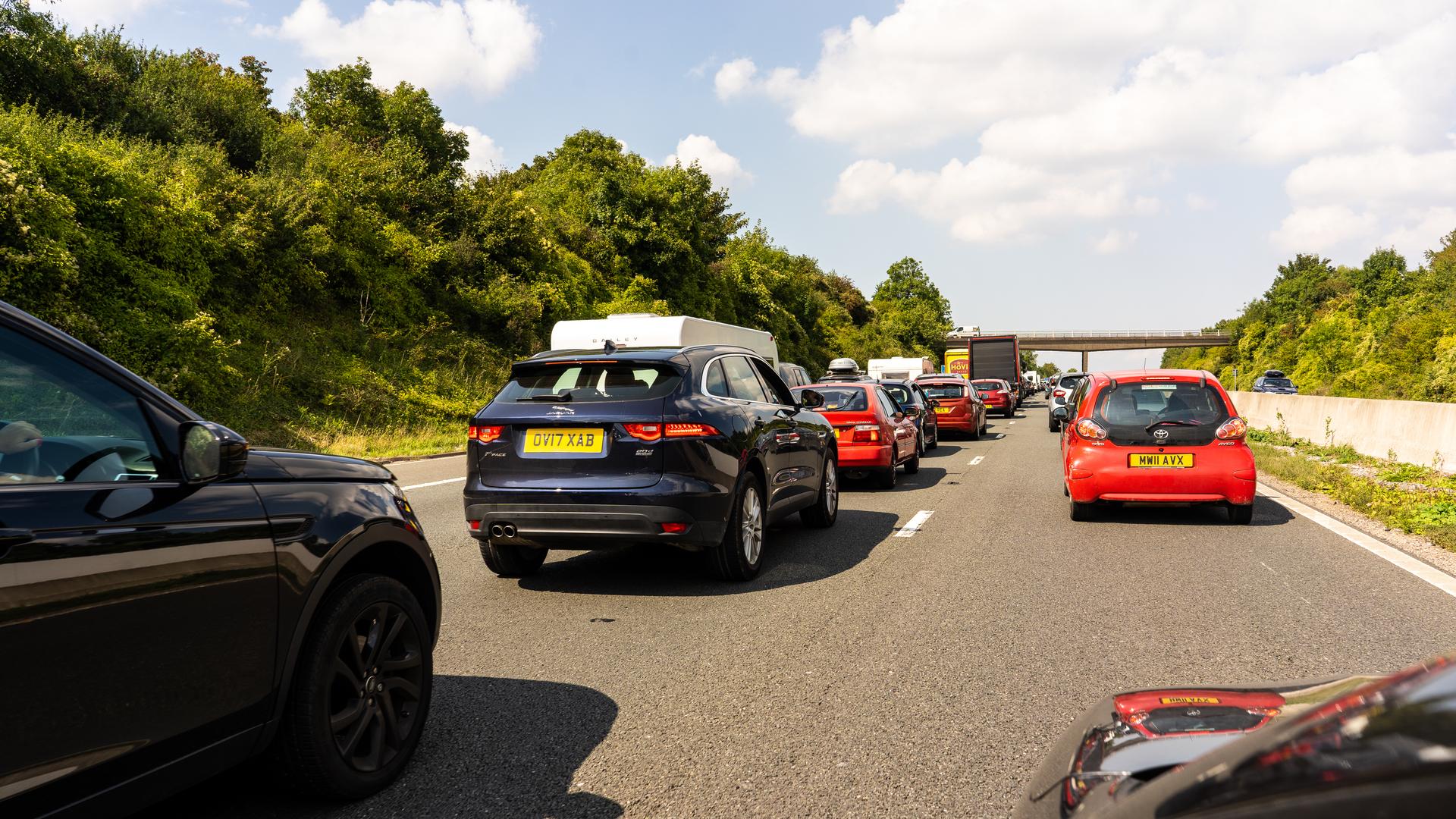 Traffic on M5 motorway