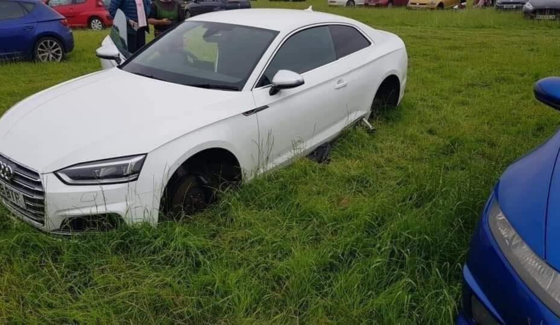 Cars stripped in Creamfields festival parking