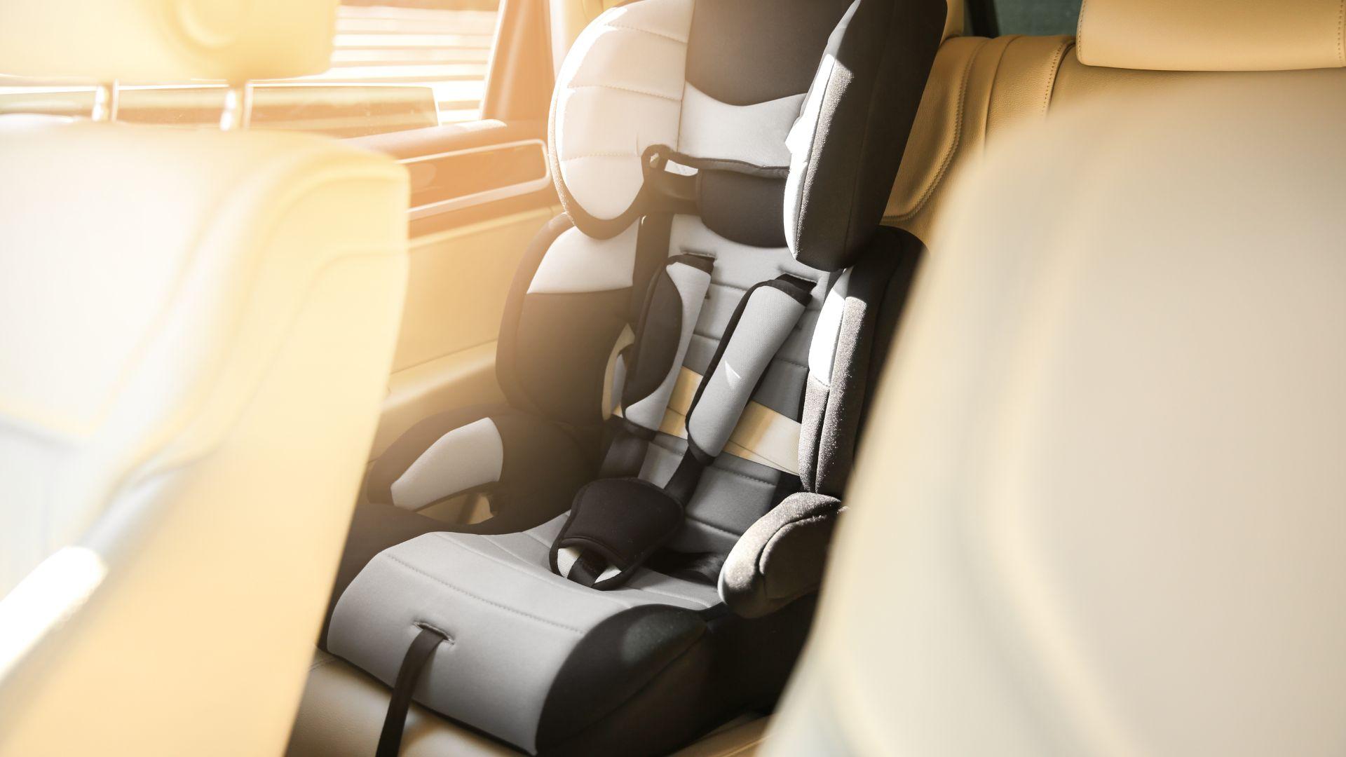 Dirty car child seat
