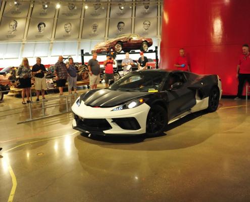 New C8 Corvette at the Corvette Museum
