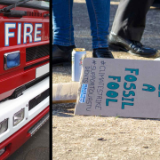 Extinction Rebellion fire engine