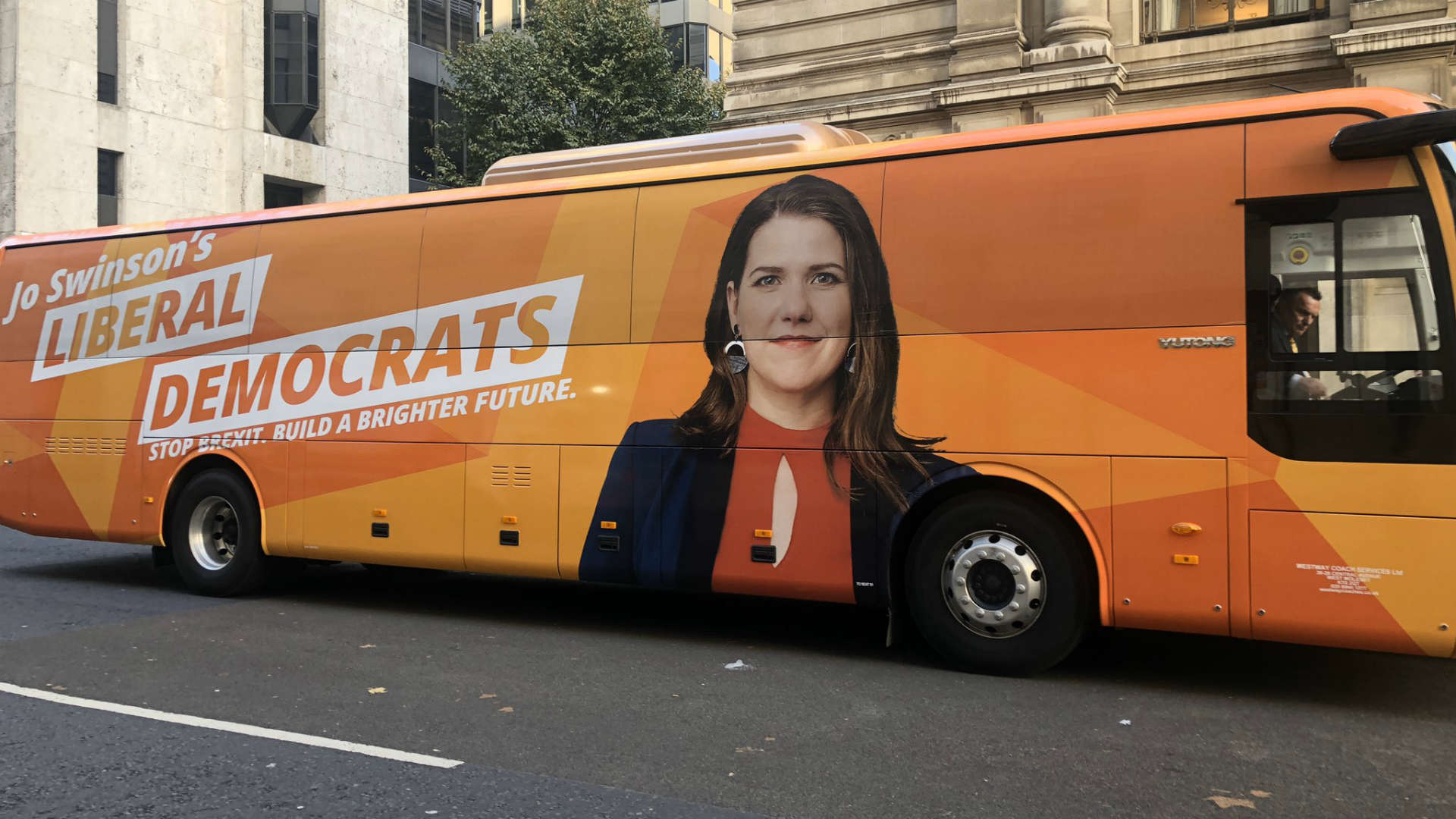 election 2019 campaign bus