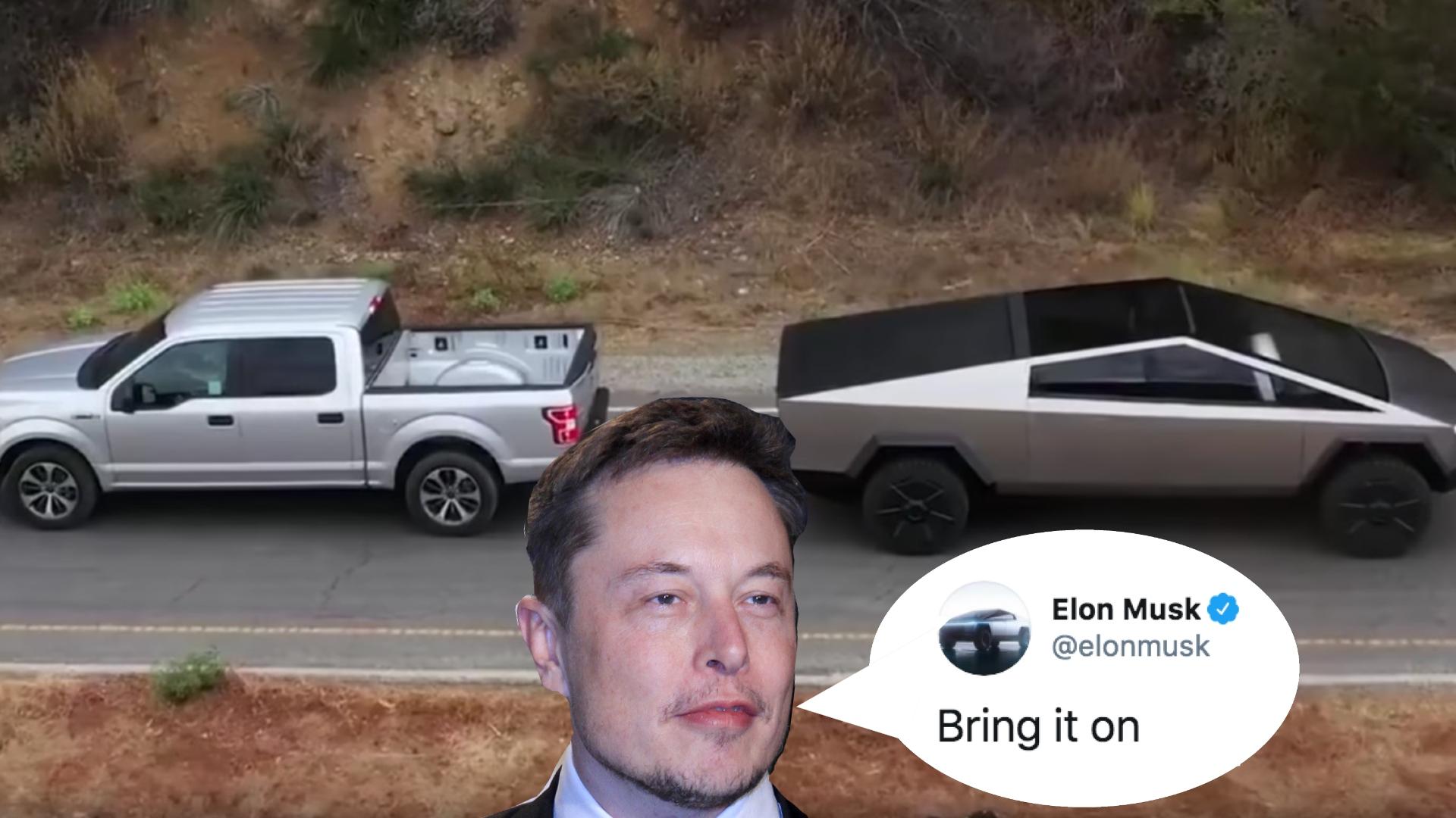 Ford v Tesla Elon Musk challenge