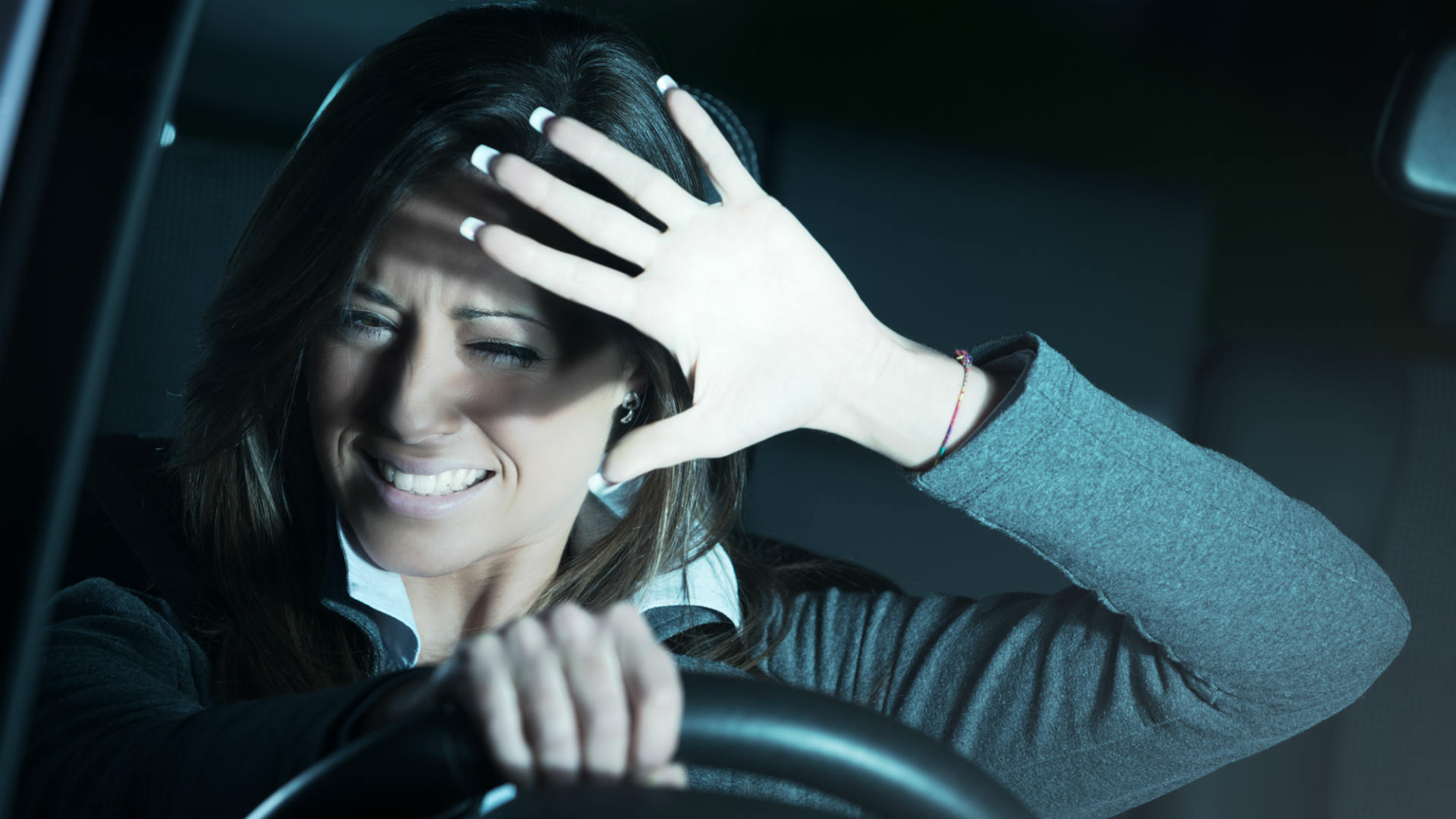 Glare when driving in the dark