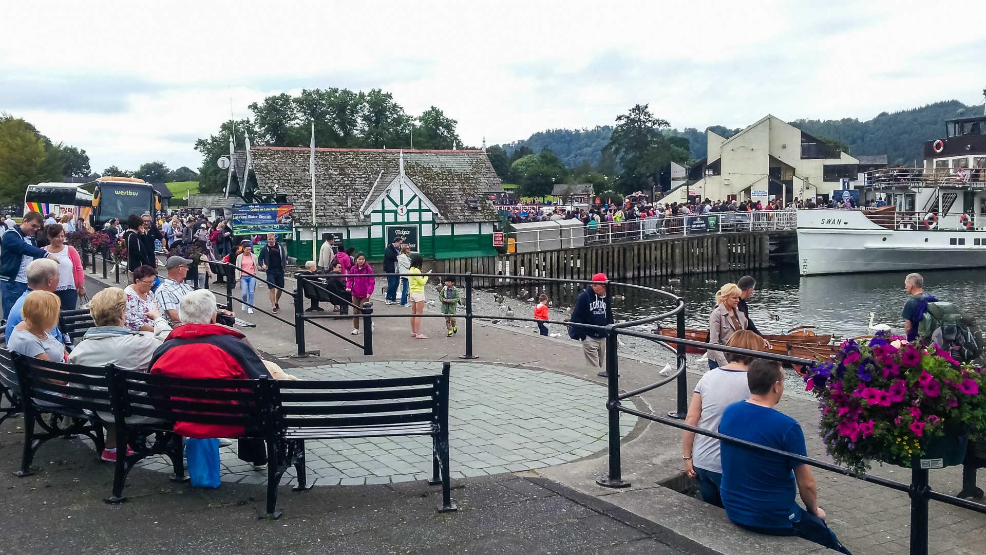 Tourists Lake District