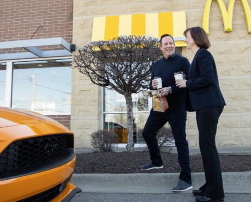 Ford McDonald's coffee plastic