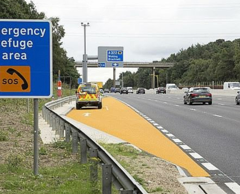 Smart motorway refuge area