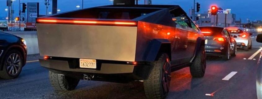 Elon Musk Tesla Cybertruck LA