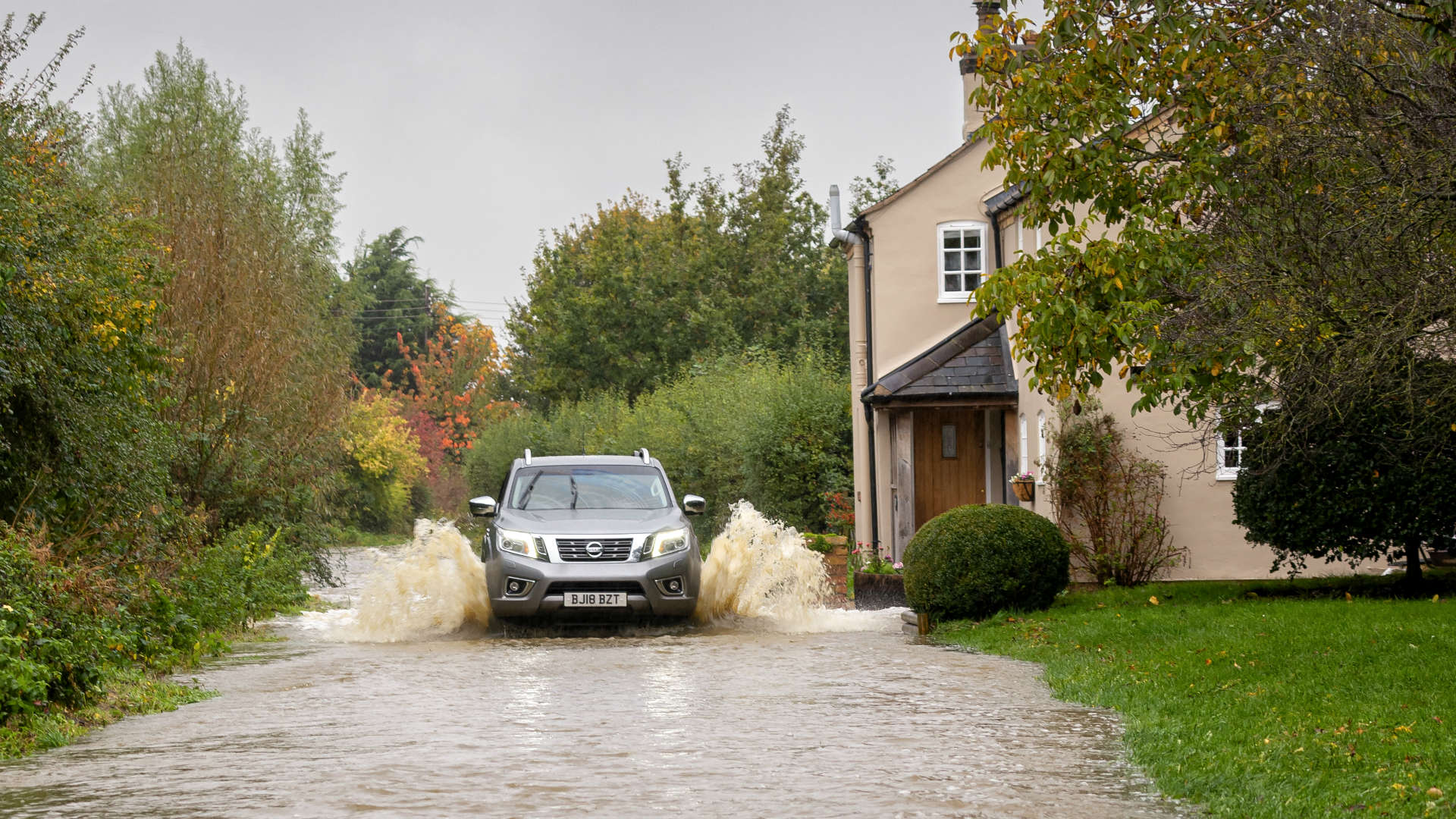 Flood water in Worcestershire